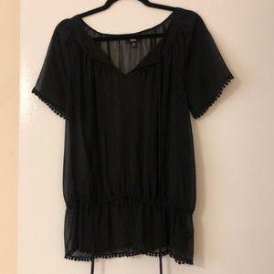 Sheer black tunic